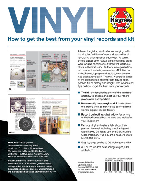 Vinyl Owners' Workshop Manual - How To Get Best From Your Vinyl Records and Kit