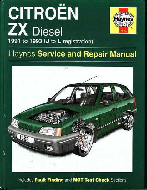 citroen zx diesel 1991 1993 workshop manual rh automotobookshop com au