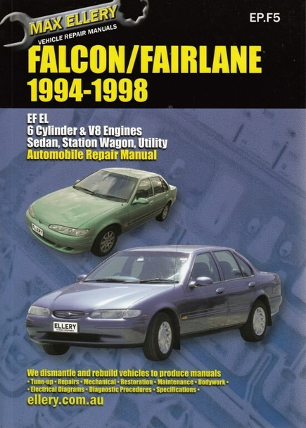 ford falcon fairlane ef el nf nl 1994 1998 workshop manual rh automotobookshop com au ford ef workshop manual Ford Falcon Chassis