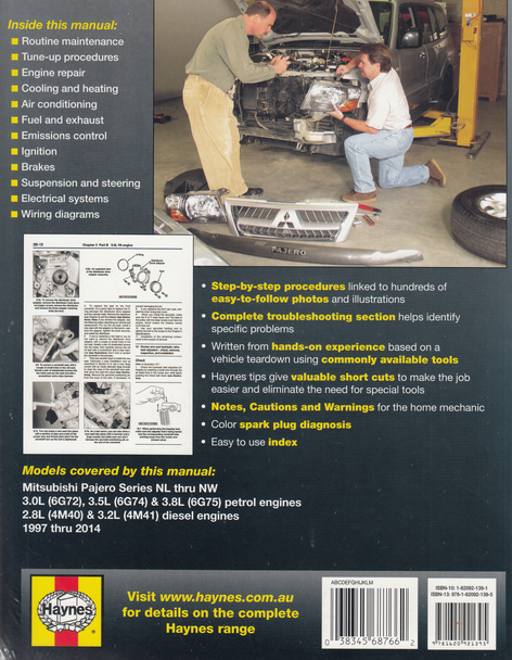 Mitsubishi Pajero Nl  Nm  Np  Ns  Nt Petrol  Diesel 1997