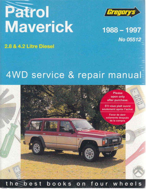 nissan patrol ford maverick diesel engines 1988 1997 workshop manual rh automotobookshop com au 2007 Ford Fusion Owners Manual Ford 3000 Tractor Manual