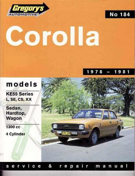 toyota corolla ke55 series 1978 1981 workshop manual rh automotobookshop com au 1988 Toyota Corolla 1988 Toyota Corolla
