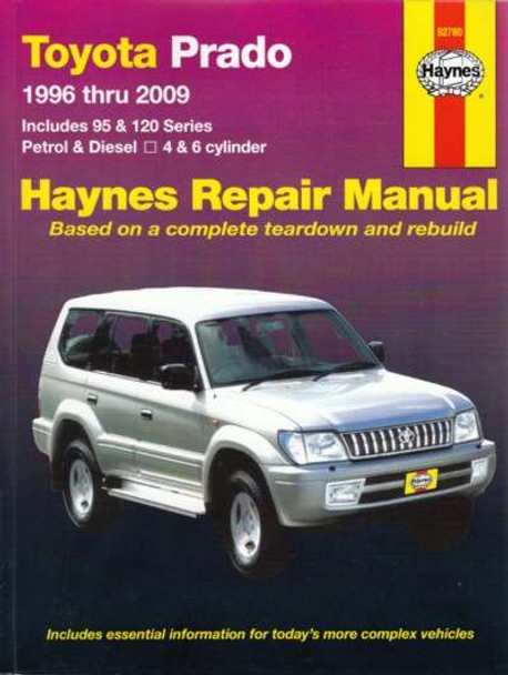 toyota prado 1996 2006 workshop manual rh automotobookshop com au Repair Manuals Repair Manuals