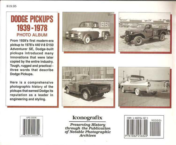 Dodge Pickups 1939 - 1978 Photo Album