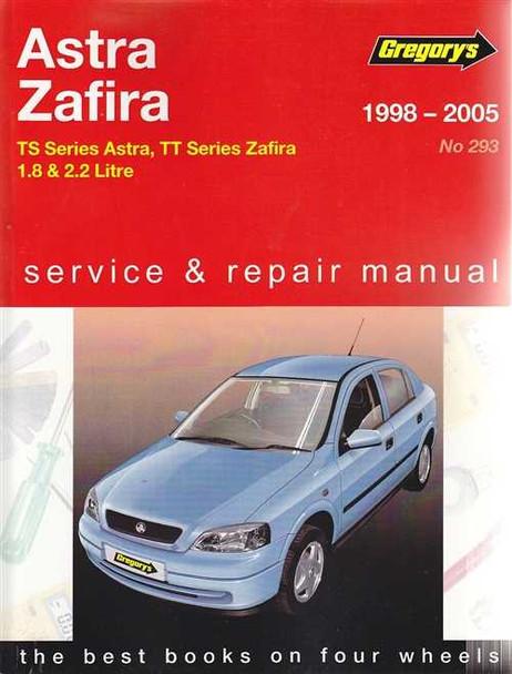 Holden Astra TS and Zafira TT 1.8L, 2.2L Petrol 1998 - 2005 Workshop Manual