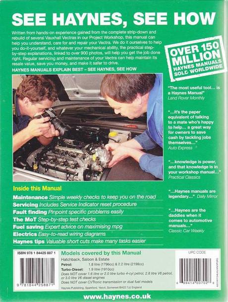 Vauxhall Vectra 2005 - 2008 Workshop Manual