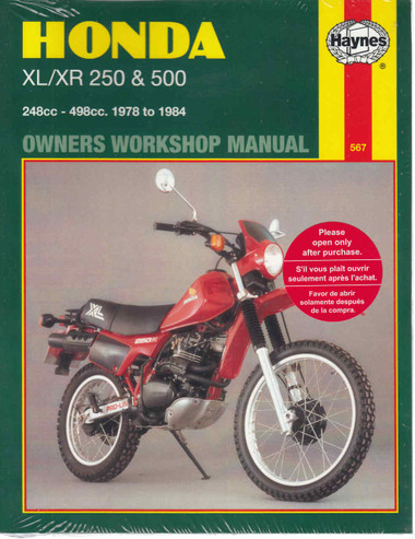 honda xl xr 250 500 1978 1984 workshop manual automoto bookshop rh automotobookshop com au 1982 Honda XL250 Honda Xl650