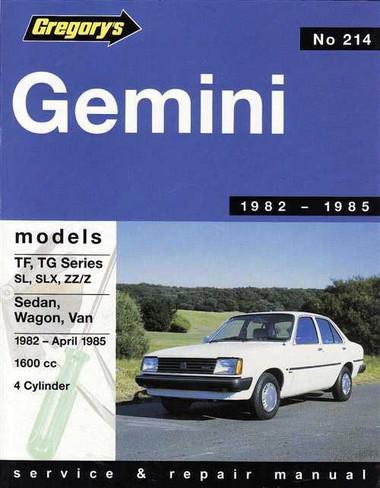 Holden gemini tf tg series 1982 1985 workshop manual sciox Gallery