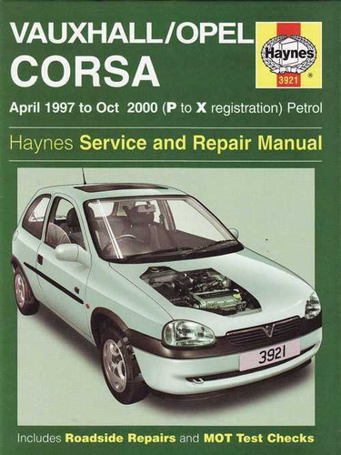 holden barina vauxhall opel corsa petrol 1997 2000 workshop manual rh automotobookshop com au Corsa Lite Inside corsa lite owner's manual
