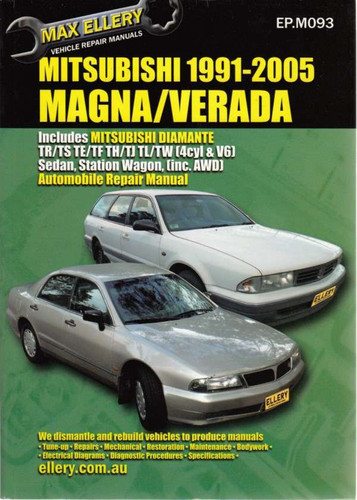 mitsubishi magna verada tr ts te tf th tj tl tw 1991 2005 rh automotobookshop com au mitsubishi magna owners manual mitsubishi verada workshop manual