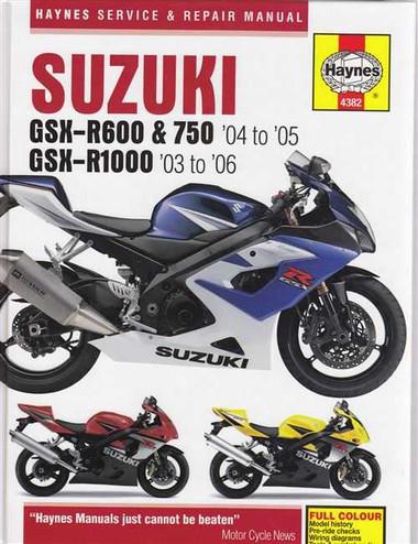 suzuki gsx r600 gsx r750 gsx r1000 2003 2006 workshop manual rh automotobookshop com au Suzuki Katana 1100 Suzuki GSX1300R