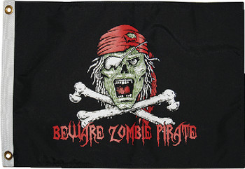 Taylor Flag 12X18 Pirate Zombie 1610