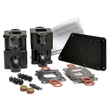 """OEM (14 degree risers) MerCruiser V6/V8 Dry Joint Exhaust Riser 6"""" Spacer Kit (std cooling)"""
