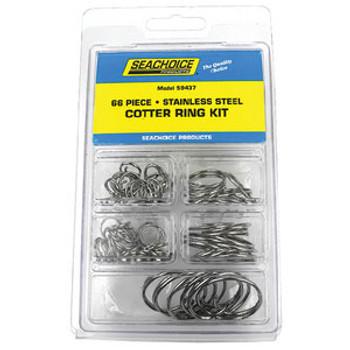 Seachoice Kit 66 Pc SS Cotter Ring Kp5573Sc