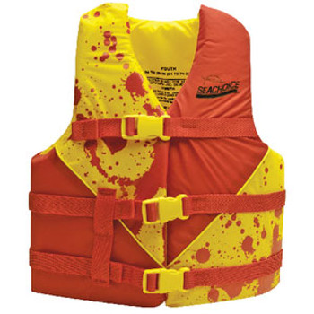 Seachoice Red/Yellow Deluxe Youth Vest 24 -29 86170