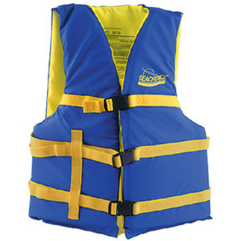 Seachoice Blue/Yell XL Adult Vest 40-60 86240