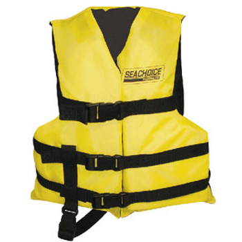 Seachoice Black/Yellow 3 Belt Vest Child Epe2111C-86510