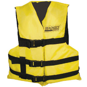 Seachoice Black/Yellow 3 Belt Univ Vest Adult Epe2220Au-86530