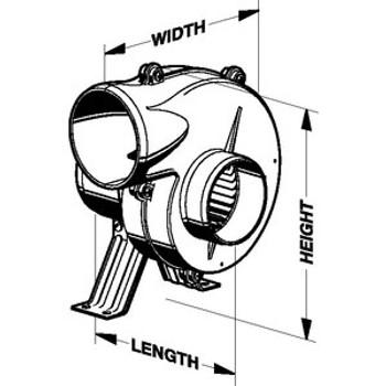 Jabsco Par 12V Blower Flexmount 3 35515-0010