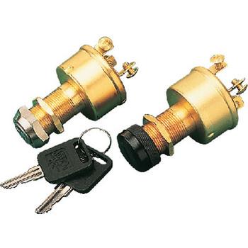 Sea-Dog Line Brass 3-Position Key Switch 420350-1
