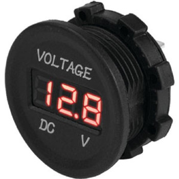 Sea-Dog Line Round Digital Voltage Meter 421615-1