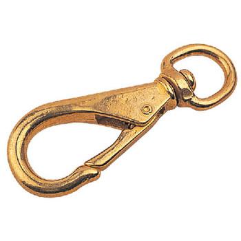 Sea-Dog Line Brass Swivel Eye Snap-Size 1 139131