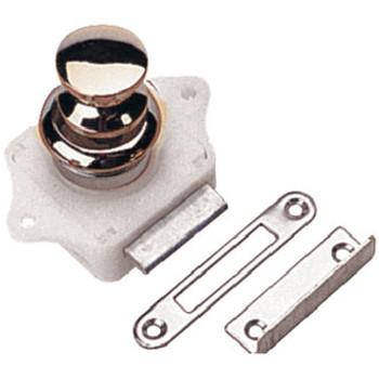 Sea-Dog Line Push Button Rim Latch - Chrome 224300-1