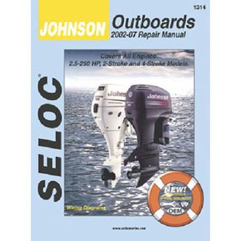 Seloc Publishing Manual Johnson 02-07 3.5-250hp All O/B 1314