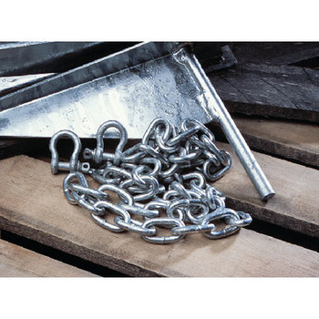 "Tiedown Engineering 1/4"" x 6' Galvanized Chain with 1/4 Shack 95130"