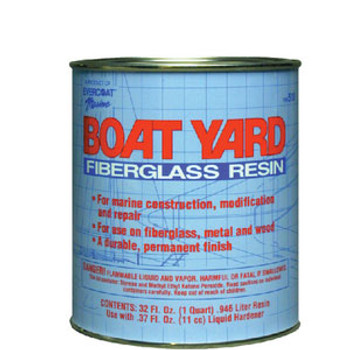 Evercoat Boat Yard Resin Quart with Wax 100518