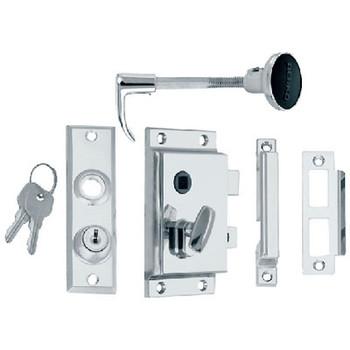 Perko Rim Lock St with Bolt-Box Strike 0918Dp0Chr