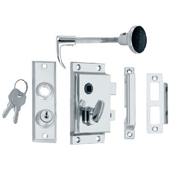 Perko Rim Lock St with Bolt-Flush Strike 0919Dp0Chr