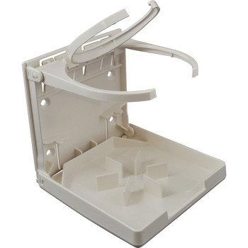 Attwood Marine Drink Holder Fold Down White 2449-7