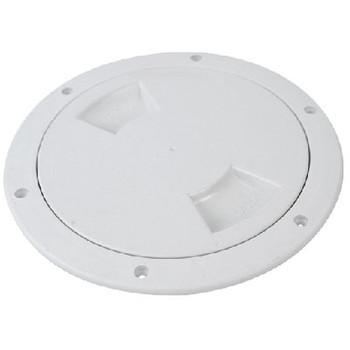 "Attwood Marine White 6"" Deck Plate 12792-1"