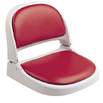 Attwood Marine Pf Gray Seat with Red Vinyl Back 7012-104-4