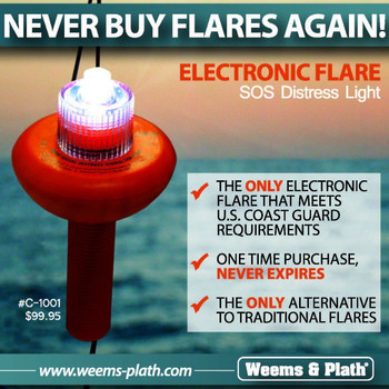 Weems & Plath SOS Visual Distress Light LED Electronic Flare C-1001