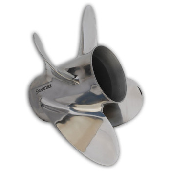 "HM MerCruiser Alpha / Bravo 1 ""Pleasure"" 4 Blade Stainless Steel Propeller"