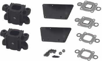 """OEM Mercruiser V6 V8 """"Dry Joint"""" Exhaust Riser 4.7 inch Spacer kit 866208A02"""