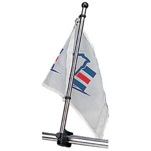 "Sea-Dog Line Flagpole 30"" SS Rail Mount 327124-1"
