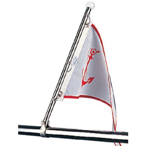 Sea-Dog Line Flag Pole Stainless Rail Mount 328115-1