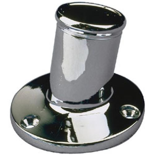 Sea-Dog Line Chrome Brass Pole Socket-1 1/4 492213-1