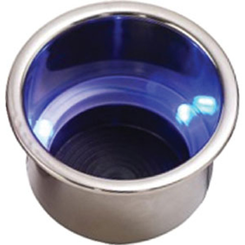 Sea-Dog Line Blue LED Drink Holder with Drain 588074-1