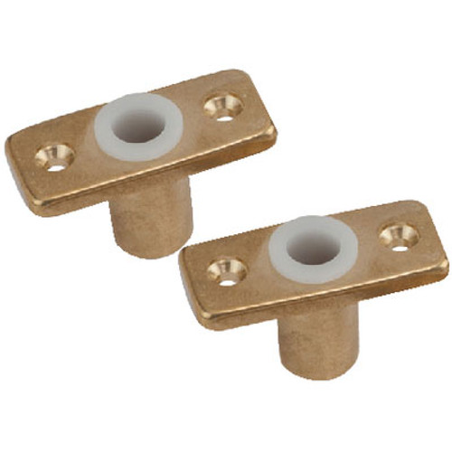 Sea-Dog Line Oar Lock Socket Brass 1Pr/Pk 5806001