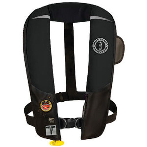 Mustang Survival HIT Inflatable PFD Aut Black with Harness Md318402-13