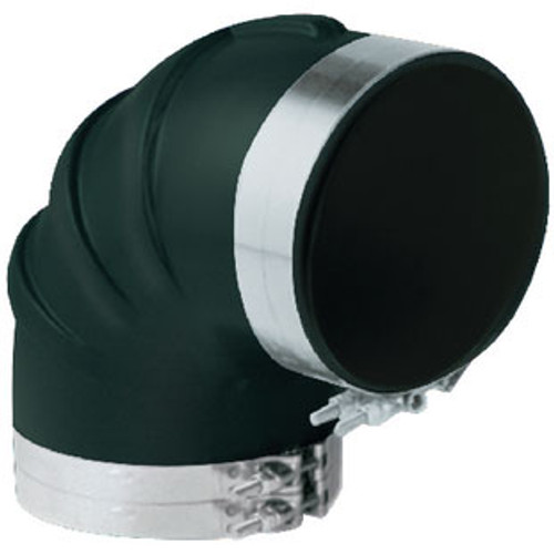 """Trident Hose 90 Degree Rubber Elbow with T Clamp 5"""" Trl590SS"""