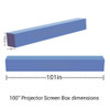 Projector screen size