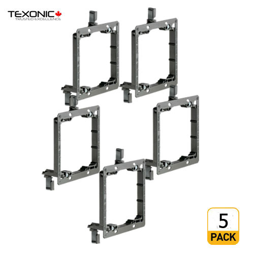 Low Voltage Mounting Brackets 2 Gang (5PCS) (C-LV2-5)