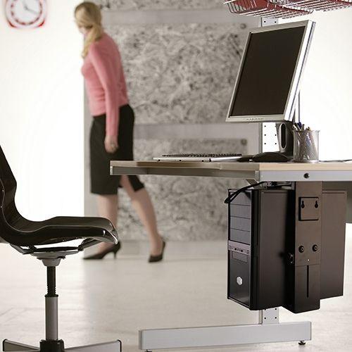 Adjustable Under-Desk CPU Mount (T-CP5)