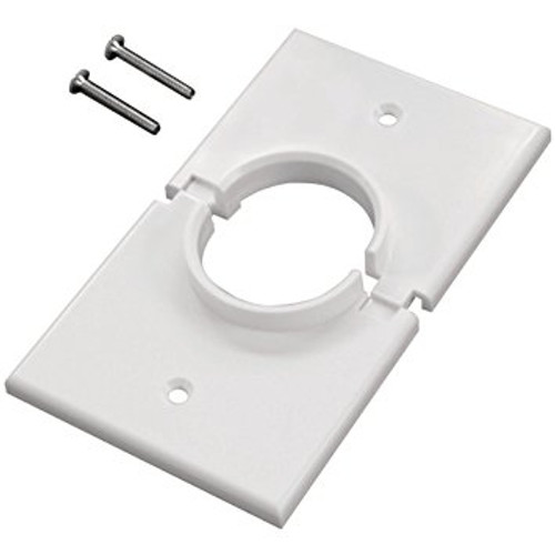 Cable  Pass-through  Wall Plate  1 Gang (C-1GSWH)