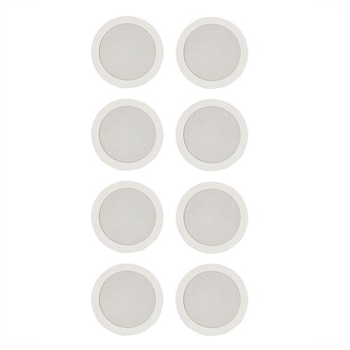 "8 x 70V Ceiling Speaker 6"" Commercial w/ Spring Clip Clamp (S-105MX8)"
